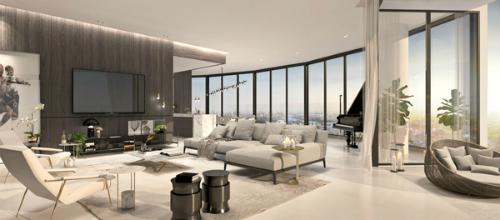 Tất cả các căn penthouse được hoàn thiện với nội thất tinh tế, thể hiện nét cá tính của chủ nhân.