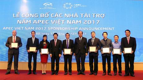 Tính đến hiện tại, có 31 nhà tài trợ ký hợp đồng tài trợ bằng hiện vật và tiền mặt cho sự kiện APEC.