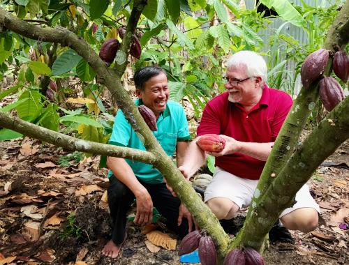 Chú thích ảnh: Socola Belvie làm từ nguyên liệu hạt cacao Việt theo công thức truyền thống của Bỉ, không chứa phụ gia, hương liệu hay hoạt chất hóa học.