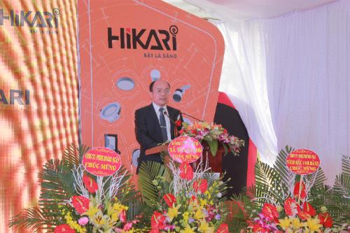 Đại diện Hiraki phát biểu tại buổi lễ.