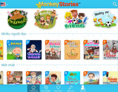 Kho truyện đa dạng Monkey Stories.