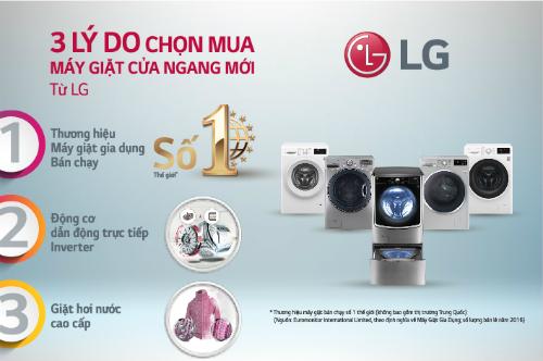 khách hàng được trải nghiệm các sản phẩm công nghệ cao như máy giặt LG Twin Wash.