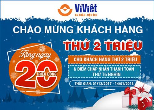 Để có cơ hội ghi tên mình vào danh sách khách hàng may mắn, bạn chỉ cần đăng ký tài khoản Ví Việt với vài bước đơn giản ngay tại đây  Hoặc tải Ví Việt tại https://www.viviet.vn/install-app  Tổng đài CSKH (miễn phí 24/7): 1800.6665