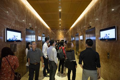 Kênh truyền thông tòa nhà có khả năng quảng bá thương hiệu doanh nghiệp. Ảnh: China Focus Media