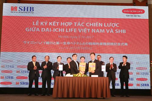 Dai-ichi Life Việt Nam và Ngân hàng Sài Gòn - Hà Nội (SHB) ký hợp tác hồi tháng 10.