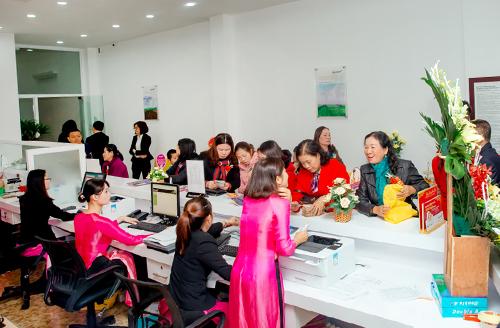 Chi nhánh Ninh Bình có cơ sở vật chất hiện đại, cung cấp đa dạng sản phẩm dịch vụ. Ảnh: Ngân hàng Bắc Á.