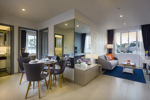 Thiết kế hiện đại, nội thất được bố trí tinh tế, tạo nhiều cảm hứng cho khách lưu trú.