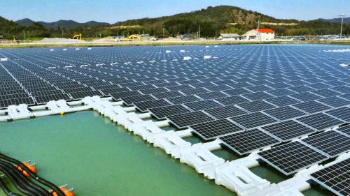 Nhà máy điện mặt trời nổi tại Bình Thuận dự kiến đưa vào vận hành năm 2019 (Ảnh minh họa, Nguồn: Kyocera)