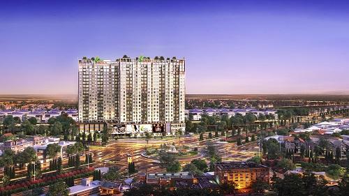 Phối cảnh dự án Khu căn hộ thông minh mặt tiền quốc lộ High Intela.Website:http://www.highintela.ldggroup.vn/.Đơn vị phân phối độc quyền Unihomes : 0923 89 89 87. Ảnh: LDG Group