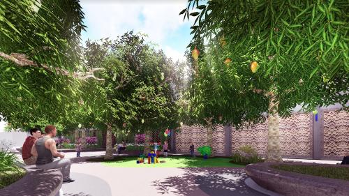 Không gian xanh mát của dự án.