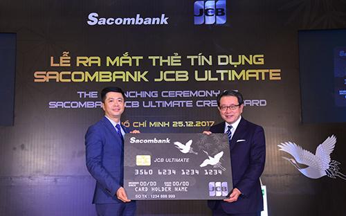 Sacombank kết hợp với Tổ chức Thẻ Quốc tế JCB (Nhật Bản) chính thức ra mắt thẻ tín dụng quốc tế Sacombank JCB Ultimate.