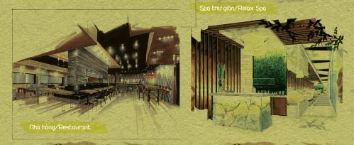 Dự ánnổi bật với những tiện ích nội khu như hệ thống nhà hàng, cà phê ngoài trời, hồ bơi, các dịch vụ cao cấp khác
