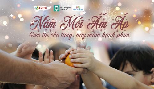 Chương trình Năm mới ấm áp của Chợ Tốt giúp mọi người có thể quyên góp ngay tại nhà.