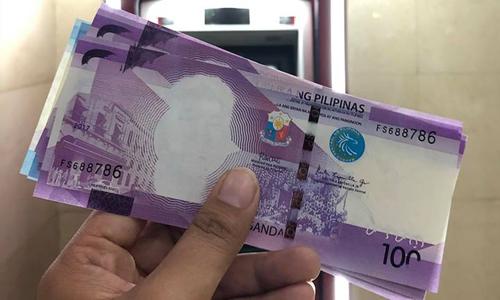 Những đồng 100 peso bị lỗi.
