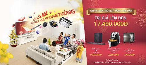 Khi mua các mẫu TV 4K của hãng, khách hàng được nhận nhiều quà tặng hấp dẫn.