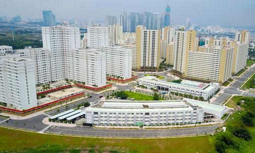 Giá đất quanh khu tái định cư Bình Khánh cao nhất 150 triệu đồng mỗi m2. Ảnh: Quỳnh Trần