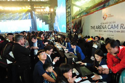 Sự kiện ra mắt The Arena tại Hà Nội.