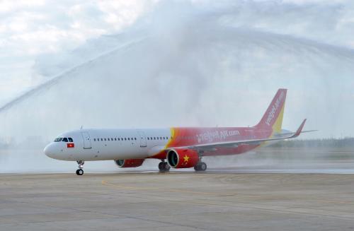 Tàu bay A321neo đầu tiên của Đông Nam Á về đến sân bay Tân Sơn Nhất