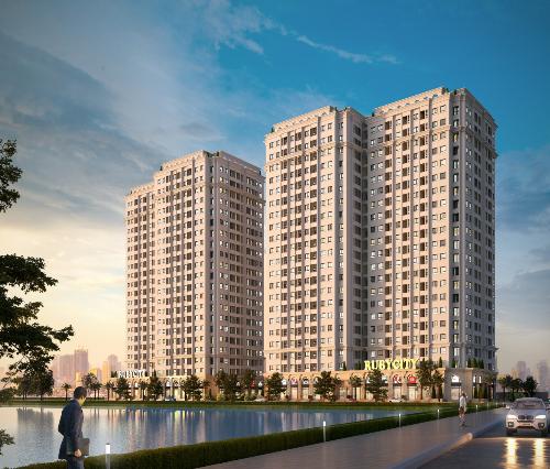 Phối cảnh Dự án Chung cư Ruby City CT3, Phúc Lợi - Long Biên  Hà Nội.