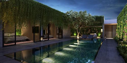 Wyndham Garden Phú Quốc mang đậm bản sắc vùng biển nhiệt đới trong kiến trúc.