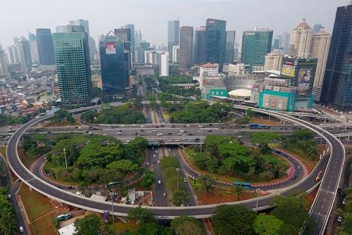 Một giao lộ tại thủ đô Jakarta của Indonesia. Ảnh: Bloomberg