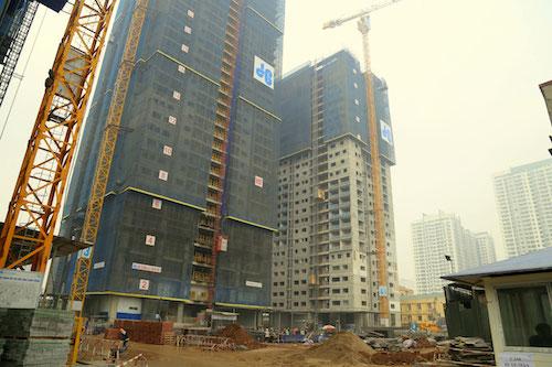 Tòa Spring đã tiến hành cất nóc từ tháng 11 năm 2017 và đang trong quá trình hoàn thiện mặt ngoài