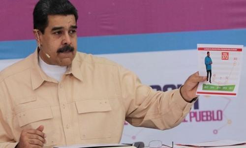 Ông Maduro công bố kế hoạch này trong chương trình TV tháng trước. Ảnh:Reuters