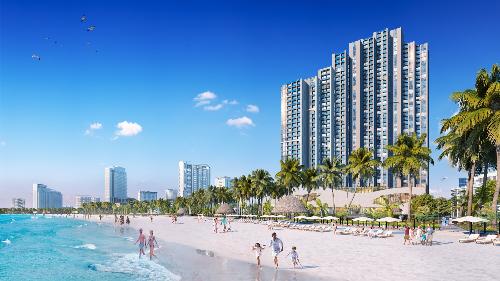 Scenia Bay nằm ngay bờ biển Nha Trang, thiết kế thông minh.