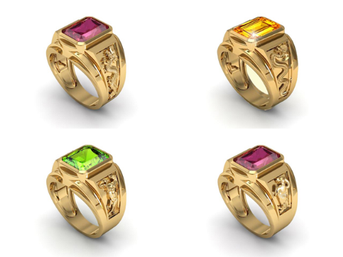 Bộ sưu tập nhẫn vàng phong thủy Thìn, Tỵ, Ngọ, Mùi.
