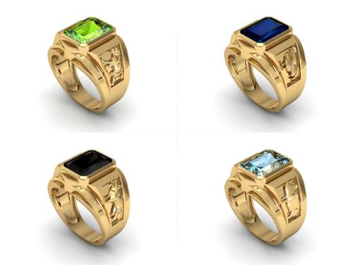 Bộ sưu tập nhẫn vàng phong thủy Thân, Dậu, Tuất, Hợi.