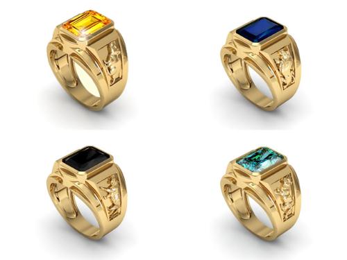 Bộ sưu tập nhẫn vàng phong thủy Tý, Sửu, Dần, Mẹo.