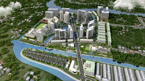 Khu đô thị Mizuki Park tọa lạc trên trục đại lộ Nguyễn Văn Linh, Nam Sài Gòn. Thông tin dự án:Website. Hotline: 0902 000 895.Ảnh: Nam Long.