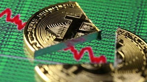 Bitcoin có lúc mất giá gần 2.000 USD sáng nay. Ảnh: Reuters