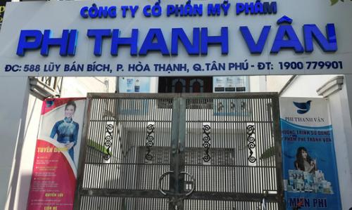 Cục thuế cho biết sẽ tiến hành thanh kiểm tra công ty mỹ phẩm Phi Thanh Vân.