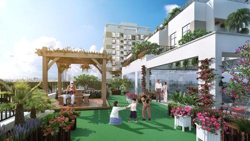 Valencia Garden cách trung tâm thành phố hơn 15 phút lái xe. Bên cạnh đó, hệ thống dịch vụ tiện ích như siêu thị, trung tâm mua sắm, khu vui chơi giải trí, trường học chất lượng cao ở khu vực này cũng rất phong phú.