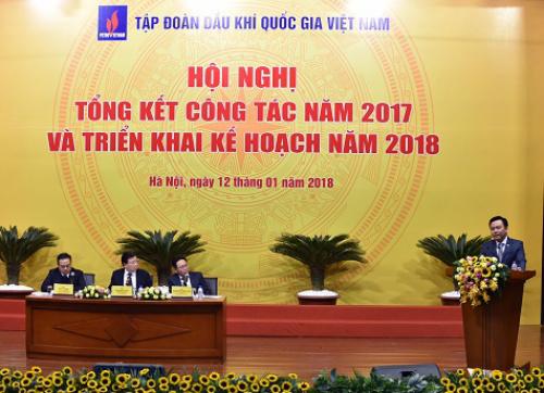 Trước khó khăn của ngành dầu khí năm 2017, PVN vẫn đạt và vượt nhiều chỉ tiêu kế hoạch Chính phủ giao. Ảnh: VGP