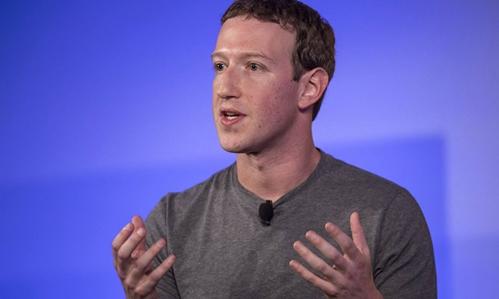 Mark Zuckerberg - đồng sáng lập kiêm CEO Facebook. Ảnh: Bloomberg
