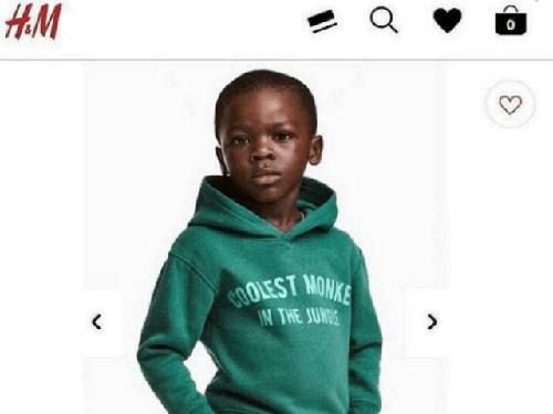 Hình ảnh bị cho là phân biệt chủng tộc của H&M.