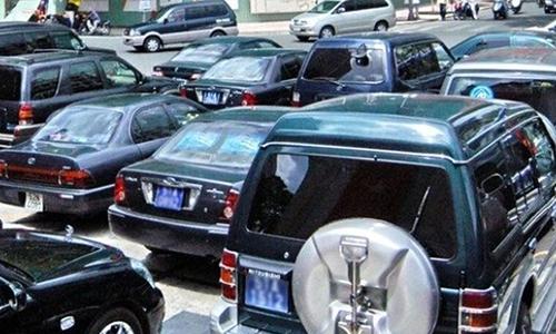Nhiều xe được thanh lý sau khi sử dụng hơn chục năm.