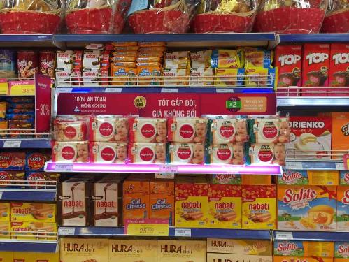 Khăn ướt Mamamy mới bầy bán trên hệ thống siêu thị toàn quốc.