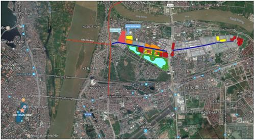 Một số dự án tạikhu vực quận Long Biên tiếp giáp gần với cầu Cửa Bắc.