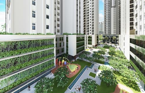 Thiết kế không gian xanh tại HaDo Centrosa Garden gồm 21 khu vườn trải dài khắp dự án (vườn trung tâm; vườn đô thị; 3 khu vườn kết hợp tiện ích hồ bơi tại tầng 5; 8 khu vườn treo; 8 khu vườn chân mây), bãi đỗ xe sinh thái trên cao&