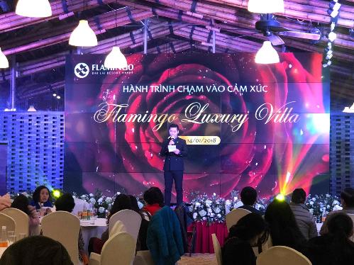 Lễ mở bán Flamingo Luxury Villa mang tên Hành trình chạm vào cảm xúc.