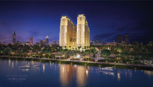 Dream Home Riverside sở hữu vị trí đắc địa ven sông được thiết kế sang trọng, hiện đại theo phong cách châu Âu.