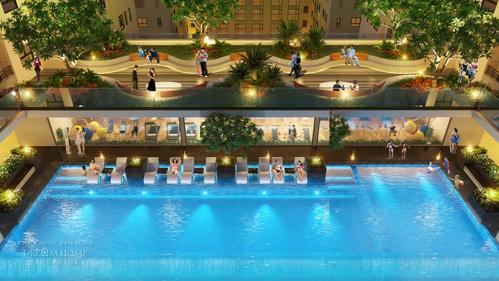 Hồ bơi Tropics Pools ngay giữa lòng căn hộ sẽ mang đến cảm giác thư thái, nhẹ nhàng sau những gió làm việc căng thẳng.