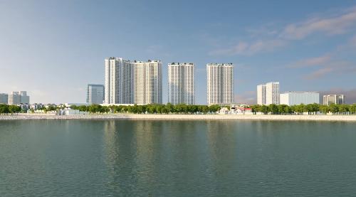 Các căn hộ Gelexia Riverside được thiết kế hiện đại, có hướng nhìn ra công viên Yên sở, khu công viên trung tâm.