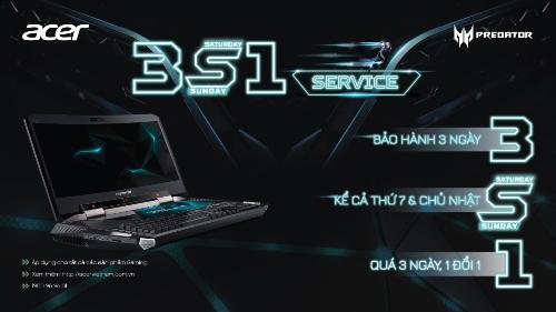 Acer ra mắt dịch vụ bảo hành 3S1 cho sản phẩm Gaming