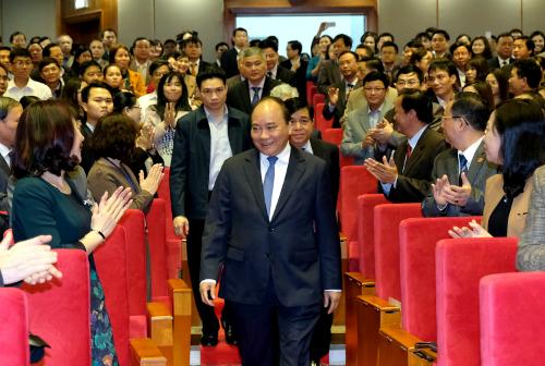 Thủ tướng tham dự hội nghị triển khai nhiệm vụ Tổng cục Thống kê ngày 22/1. Ảnh:VGP