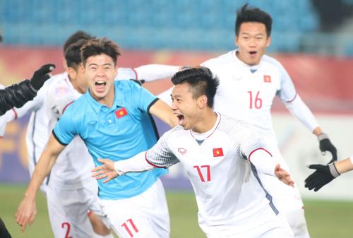 U23 Việt Nam nhận được cơn mưa tiền thưởng sau khi lọt vào trận chung kết giải vô địch châu Á. Ảnh: Anh Khoa