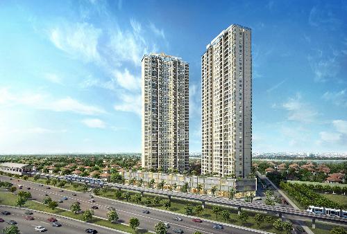 Phối cảnh dự án Masteri An Phú tại 191 Xa lộ Hà Nội, phường Thảo Điền, quận 2, TP HCM.